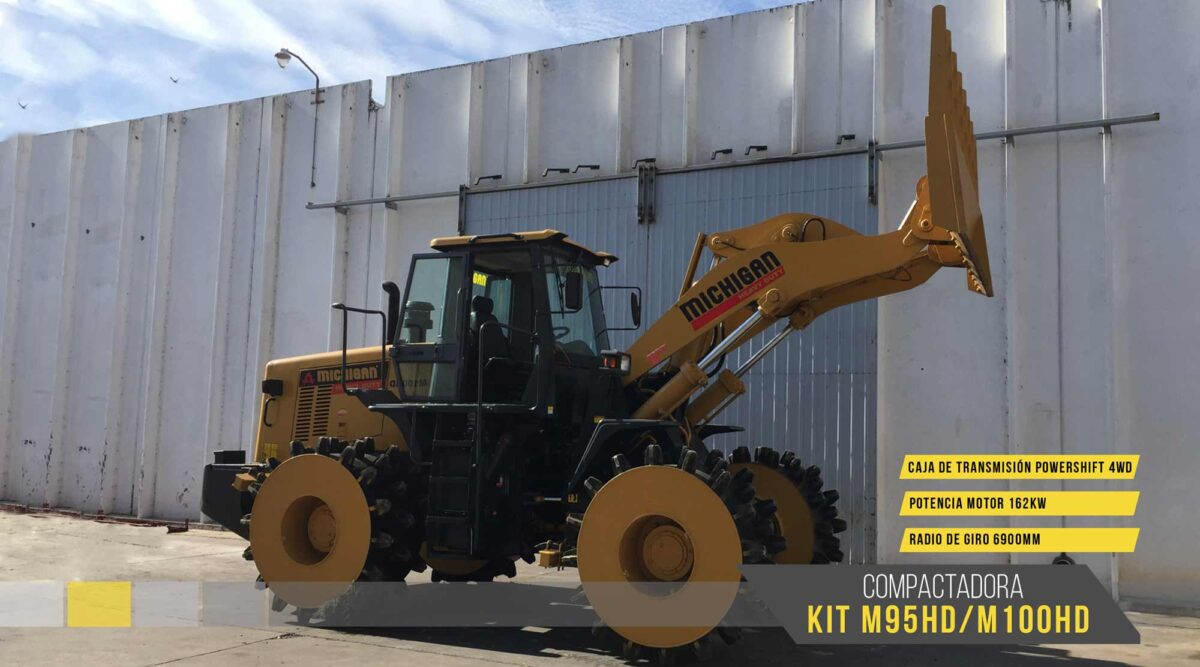Compactador de Residuos KIT M95HD/M100HD Michigan maquinarias agroman