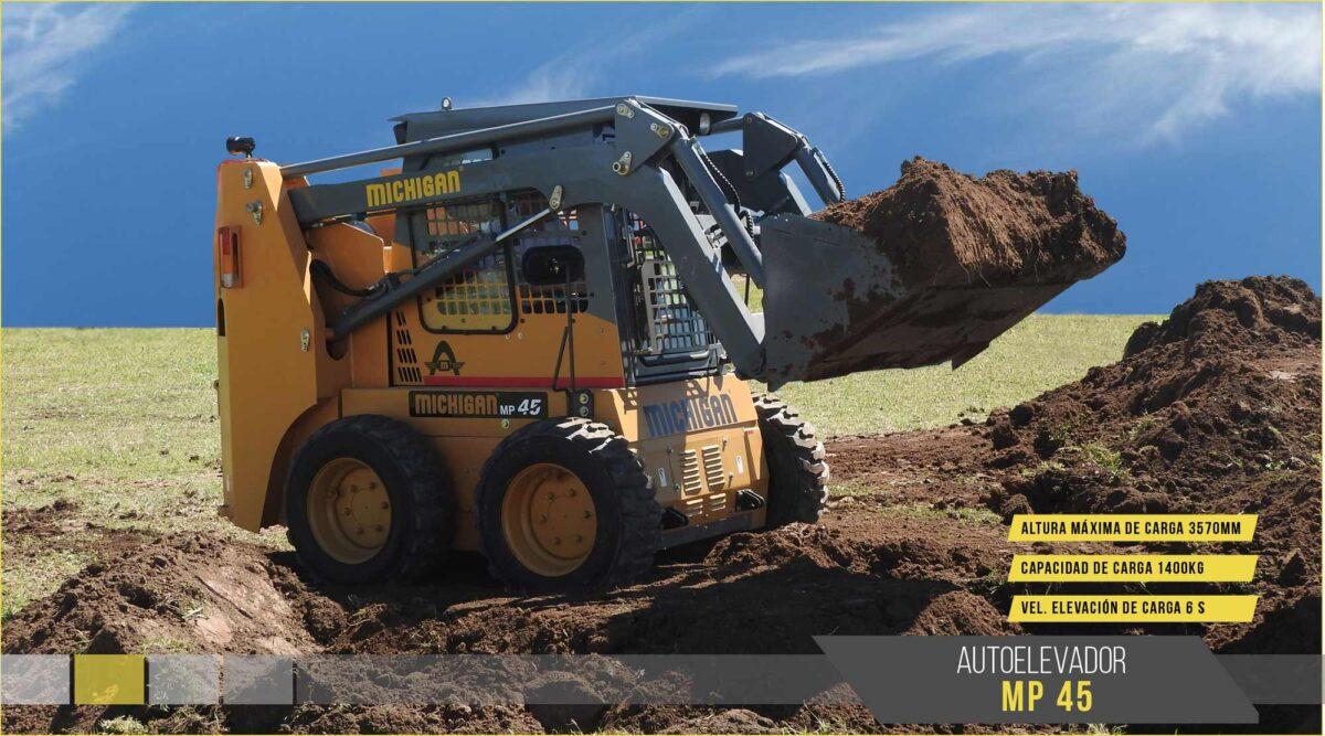 Pala cargadora frontal MP45 mini Michigan maquinarias tractores agroman