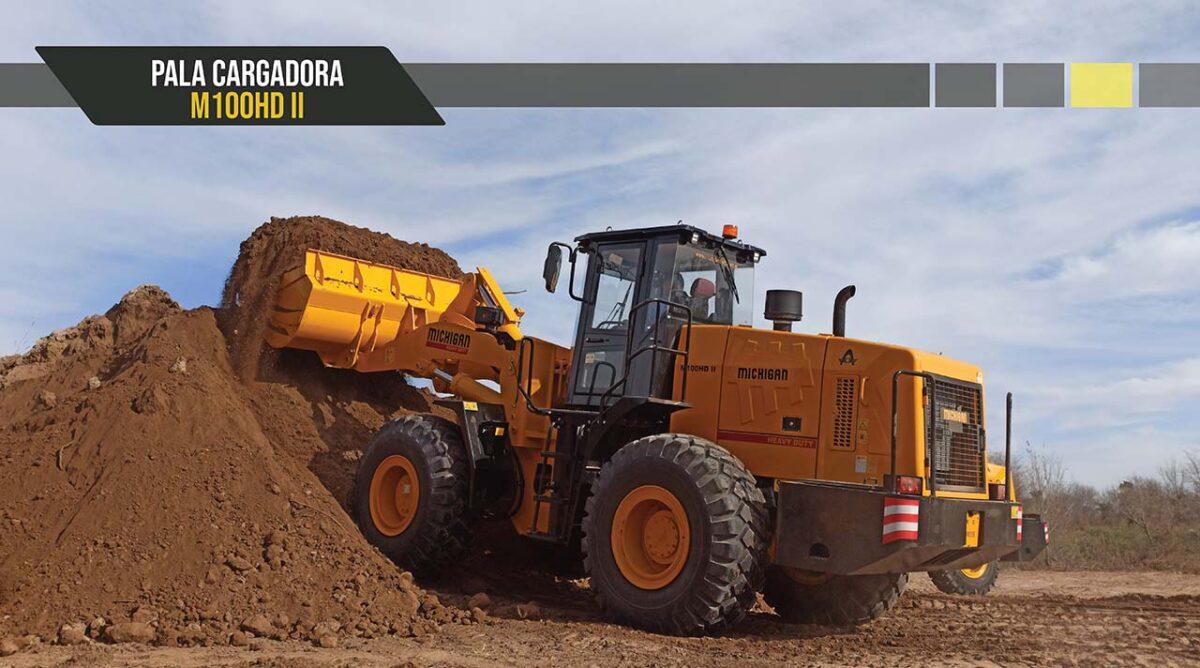 Pala cargadora frontal M100HD Michigan maquinarias tractores agroman