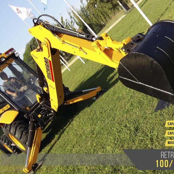 Pala cargadora frontal y retro 100/30 4WD Michigan maquinarias tractores agroman