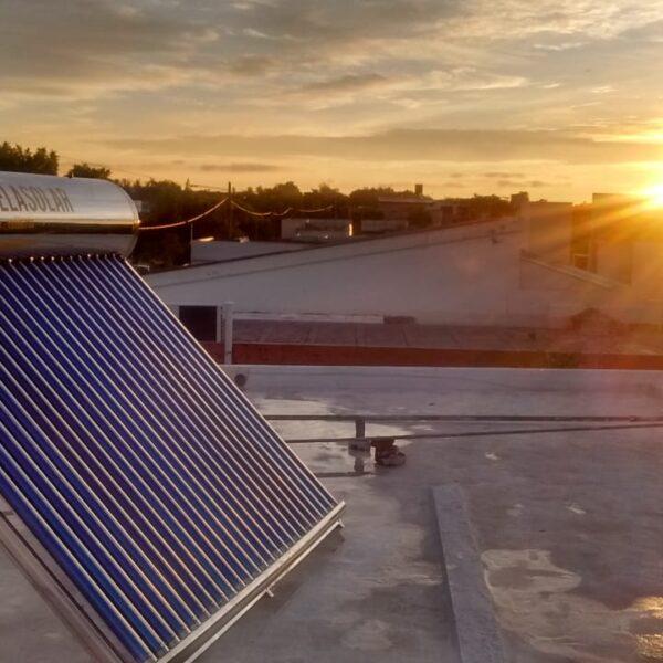 agua caliente sanitaria termotanque solar agroman
